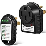 Dreyoo Surge Protector 50 AMP, Circuit Analyzer with LED Indicator Light, ETL Listed 120V 50A Surge Tester for RV Camper Trailer