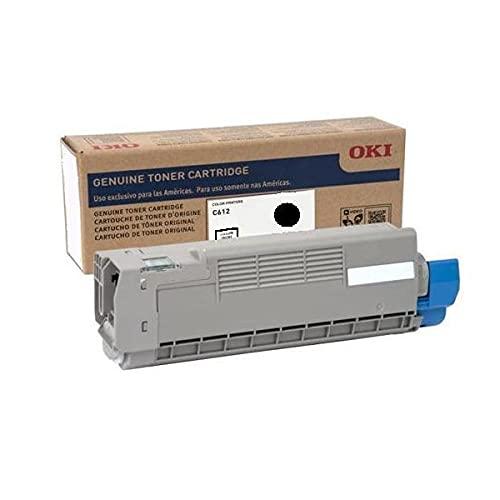 Genuine Brand Name OEM Okidata C612 Black Toner Cartridge (8K YLD) 46507504