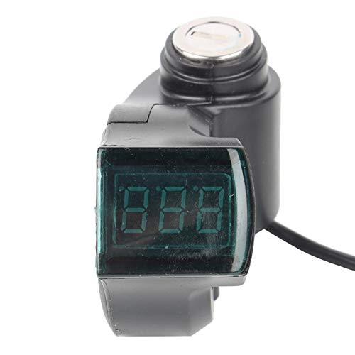 La pantalla de datos digitales identifica el voltaje automáticamente el voltímetro de bicicleta eléctrico, para scooter de 12-99 V