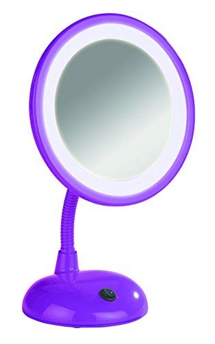 Wenko 3656444100 Miroir sur Pied Cosmétique Style Grossissement x3 Purple