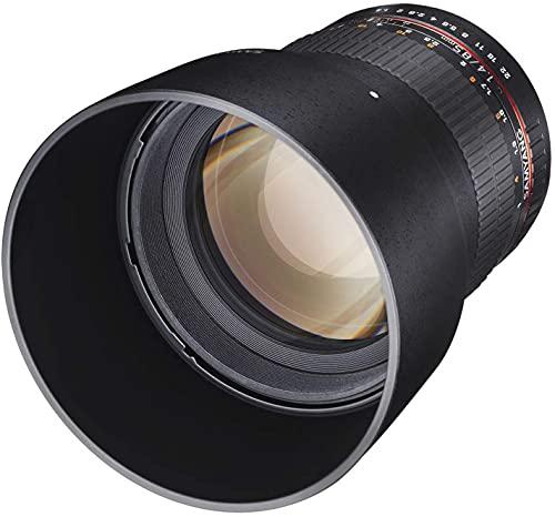 Samyang MF 85mm F1,4 AS IF UMC für Sony A – Vollformat Portrait Objektiv für Sony A-Mount, geeignet für APS-C, manueller Fokus, für DSLR Sony Kameras...