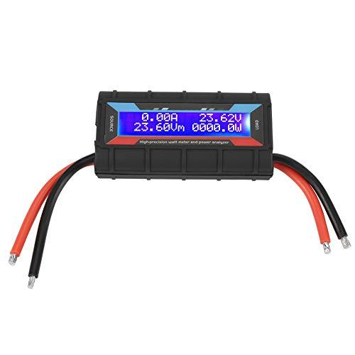 Digital Wattmeter, 4,8 V ~ 60 V 130A Hohe Präzision Leistungsmesser Power Analyzer mit LCD Hintergrundbeleuchtung