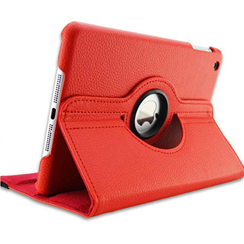 For iPad 3 A1416 A1430 A1403 Cover 360 Degree Rotation PU Leather for ipad case 3 2012 Release Stand Holder Case-for iPad 2 3 4 red