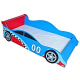 Kiddi Style Toddler Bed Frame, Wooden Junior Bed for Kids and Toddlers, Durable Bedroom Furniture, Racing Car Design (Mattress Not Included)