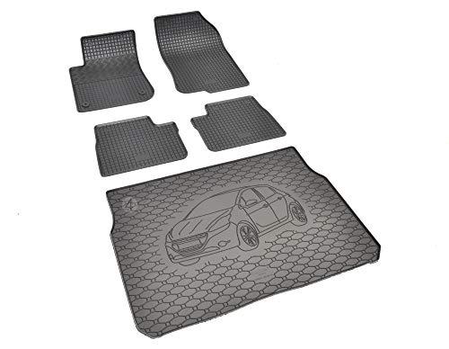Passgenaue Kofferraumwanne und Gummifußmatten geeignet für Peugeot 208 ab 2012-2019 + Autoschoner MONTEUR