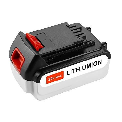 20V 4.0Ah Max LBXR20 Replacement Battery for Black and Decker 20V Lithium Battery BXR20-OPE LBXR2020 LBXR20 LB20 LBX20 LB2X4020