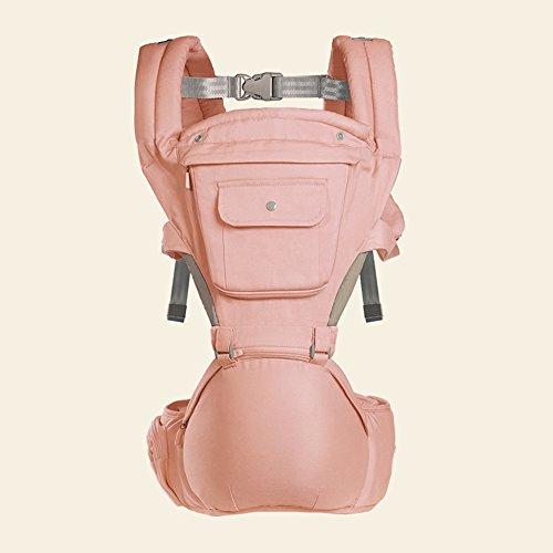 SJJL Portabebé Delantero Portabebés Ligero Portabebés Multifuncional Portaobjetos Delantero Taburete de Cintura (Color : Pink)