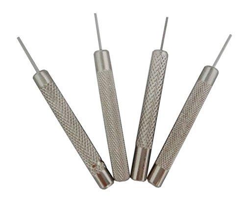 ODETOJOY 4 Stalen Punch Horloge Band Link Pin Remover Pons Armband Reparatie Gereedschap Kit Accessoires 0.7/0.8/0.9/1.0mm