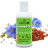 Aceite de Linaza para Perros & Gatos 250ml - 100% Natural Complemento para Mascotas - Cuidado Piel & Pelo - Rico en Vitaminas - Minerales y Ácidos Grasos Omega 3 6 9 - Flaxseed Oil for Pets
