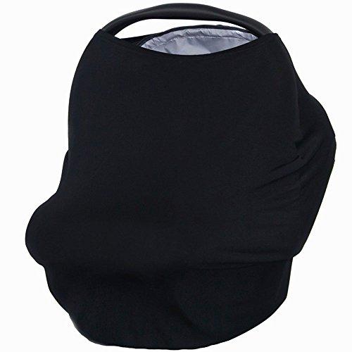 KINDOYO multi-usages Coton Bio d'allaitement allaitement Coque auto pour bébé Housse de protection pour auvent Shopping Cart Housse pour bébé nouveau-né tout-petits Douche Cadeau