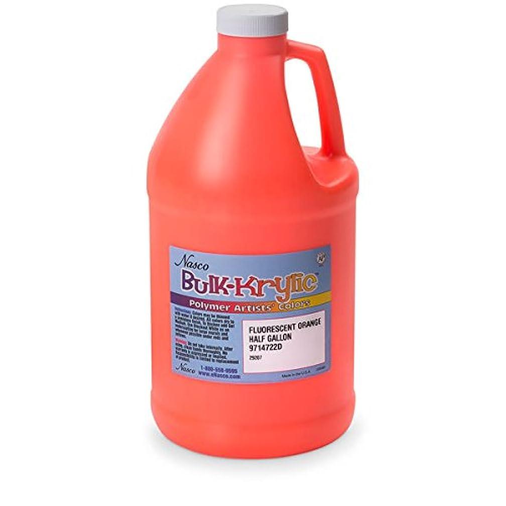 Nasco 9714722(D) Bulk-Krylic Acrylic Paint, 1/2 gal, Fluorescent Orange