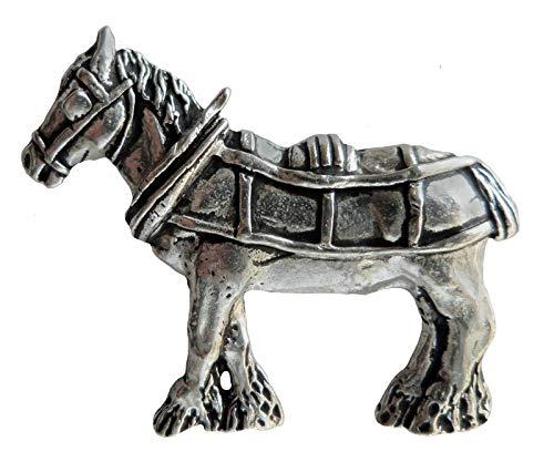 Shire Horse Geschirr, in Zinn-Abzeichen-von Hand hergestellt in Cornwall, UK