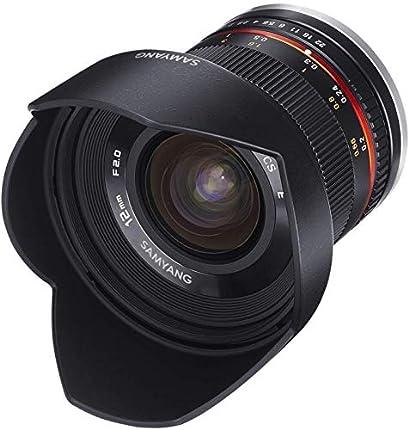 Samyang F1220506101 - Objetivo fotográfico CSC-Mirrorless para Sony E (distancia focal fija 12mm, apertura f/2-22 NCS CS, diámetro filtro: 67mm), negro