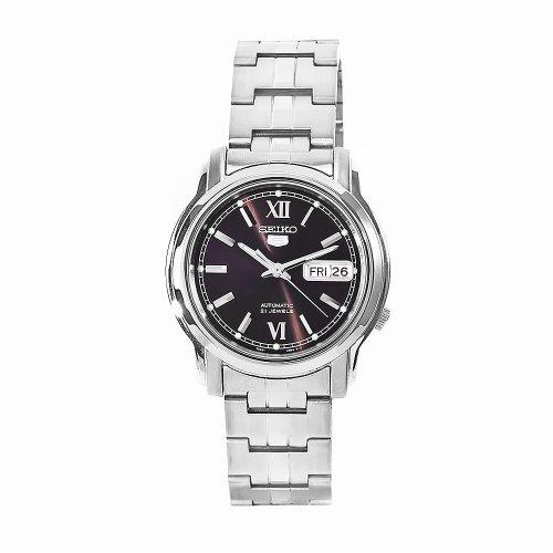 Seiko Herren Analog Automatik Uhr mit Edelstahl Armband SNKK79