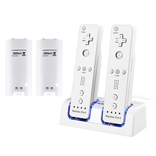 Cargador para mando a distancia de Wii, Surnous estación de carga para Wii Remote Docking Station para Wii Charger para Wii Cargador para Wii