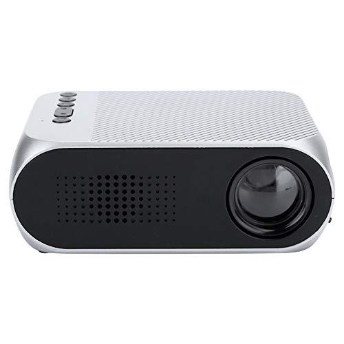 Mini proyector portátil, HD 1080HD 400-600 lúmenes Proyector de 20 a 60 Pulgadas, Compatible con AV/USB/Micro Tarjeta de Memoria/HDMI para el hogar/Oficina/al Aire Libre/Juegos(Plata)