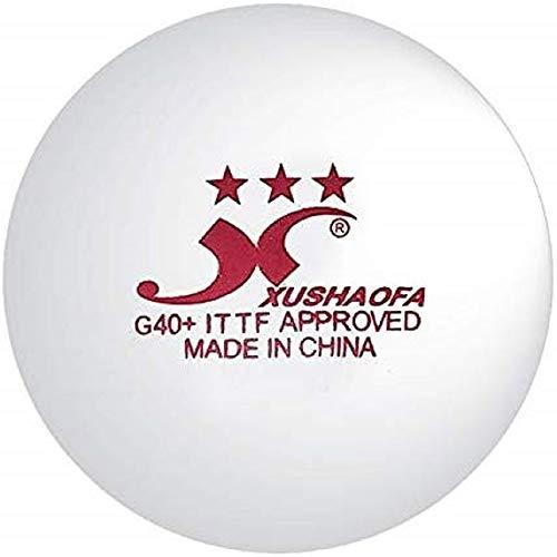 XuShaoFa Pelotas de Tenis de Mesa XSF G40+ sin Costura 3 Estrellas