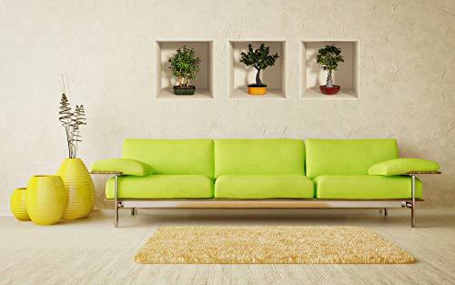 Ambiance-Live col-3D-bonsai 3D-Bonsai-Sticker, farbig, 30 x 90cm