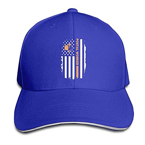 XCNGG Gorra para Hombres y Mujeres, Bandera de Trabajador Postal, Gorra de sándwich con Pico Ajustable, Sombrero de Vaquero Casquette