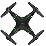 Bright Love Caméra Drone WiFi FPV HD RC Quadrocopter Real-Time 2, 4G 4 Canaux Avion 2018 UAV Télécommande Hélicoptère,Green
