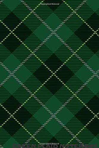 GREEN PLAID :DAILY WEEKLY PLANNER ,NOTEBOOK,JOURNAL 2020