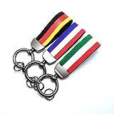 PT Decals 1 Stück gewebter Gürtelriemen Auto Auto Schlüsselring Schlüsselbund Italien Flagge IT Italienische Farbe 4,72 'x 0,98'