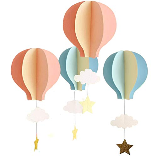 8 Pcs Large Size Hot Air Balloon 3D Paper Garland Hanging Decorations for Wedding Baby Shower Birthday Party Decorations by AZOWA