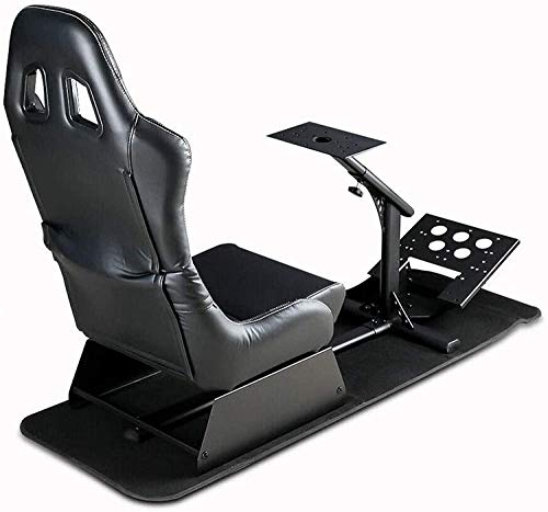 Dshot Racing Wheel Stand with seat Driving Seat Racing Simulator Cockpit Recliner with Gear Shift Mount for PS4, PS3, Xbox One, Xbox 360, Logitech, Thrustmaster