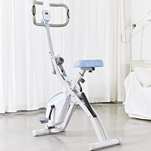 Hometrainers Kettler Hometrainers Fitnessapparatuur Voor Thuis Magnetisch Stille Fiets Voor Binnen Witte Weerstand Verstelbare Scooter (Color : White, Size : 100 * 50 * 136cm)
