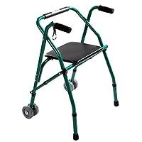 Andadores para discapacidad Andador para Ancianos Walker for los Ancianos asistido por Niño Ligera 4 pies Antideslizante Plegable 54 * 59 * 82-92cm HUYP