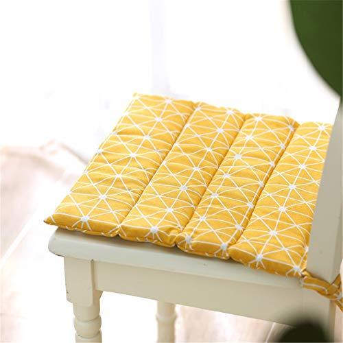 WJLK Lichtgewicht draagbaar zitkussen voor stoelen stoelkussens gewatteerd design zitkussen voor stoelen met lus tuinkussens gebruikt voor huishouden kantoor zitkussen voor stoelen