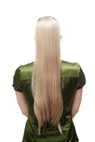 WIG ME UP - Extension natte queue de cheval peigne et bandeau longue lisse blonde 65 cm D13001-24