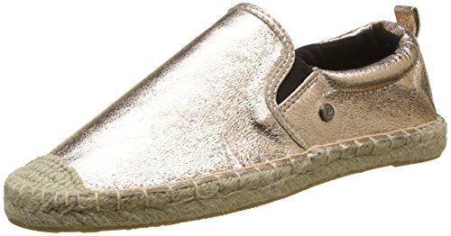 Superdry Damen Liora Espadrilles, Rosa Rose Gold Crackle, 38 EU
