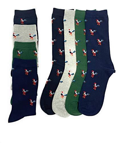 Benger Calcetines De Hombre Para Uso Diario, Diseño Original Y Elegante (Gallitos)