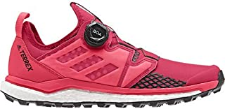 outdoor Terrex Agravic Boa Womens Trail Running Shoes, (Active Pink, Black, Shock Red), Size