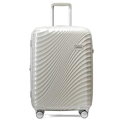 ZHENYANG Tragbare Gepäckaufbewahrungsbox für Männer und Frauen mit großem Fassungsvermögen von Zwei Personen (Color : White, Size : 20 inches)