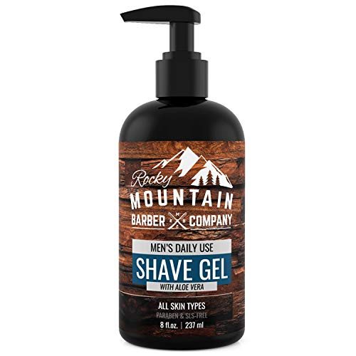 Men's Shave Gel - Clear Shaving Gel So You Can See Where You Are Shaving -...