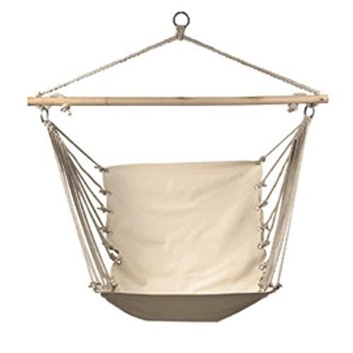 heresell Hamaca colgante, 120 x 85 cm, cómoda y duradera, de algodón, con cojín, elegante cuerda colgante, para interior y exterior, balcón, dormitorio, patio