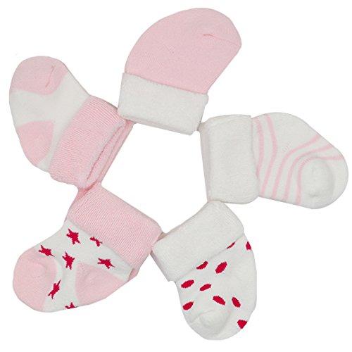 Millya - Chaussette - Bébé (fille) 0 à 24 mois rose rose S(0-6 months)