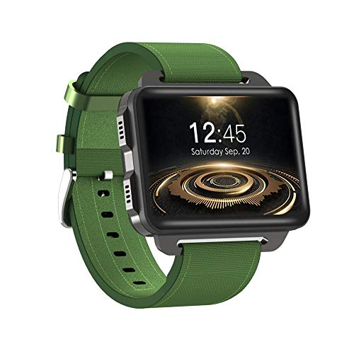 LRHD Smart Watch MTK6580 Android 5.1 SmartWatch 2.2inch Pantalla 1200 MAH Batería 1GB + 16GB WiFi 3G para Android iOS IP68 Impermeable Impermeable Deporte Redondo Smartwatch (Color : Verde)