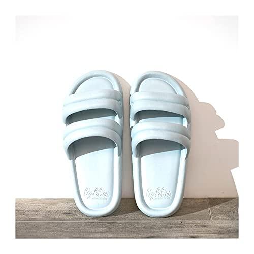 CJshop Zapatos de Playa y Piscina Slippers Ladies Summer Ligero Ligero Antideslizante Ducha Interior Slippers Soled Home Bathroom Sandalias y Zapatillas Piscina Piscina Slippers Sandalia Mujer