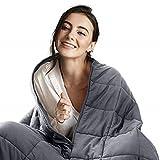 Bedsure Therapiedecke Gewichtsdecke Erwachsene 7kg, 100% Baumwolle schwere Decke Besser schlafen 150x200 cm