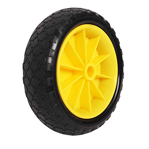 "Bonnlo Replacement Solid Tires 10"" Airless PU Tire Wheels for Kayak Dolly Canoe Cart 1 PCs"