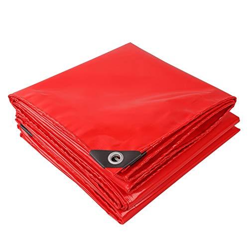LHR Tarpaulin Waterproof Heavy Duty Red Celebration Tarps Tie-downs Umbrella Gazebo Windproof PVC Super Thick Double-sided Waterproof Outdoor Roof Insulation Wear-resistant Anti-aging