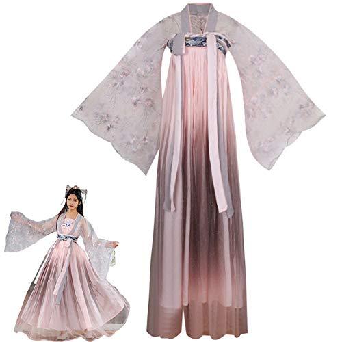 LuYi-Ww Costume da Cosplay, Costume Tradizionale Cinese, Costume Cinese da Donna, Abito Stile Antico Hanfu Tang Vestito Cinese,D,XL