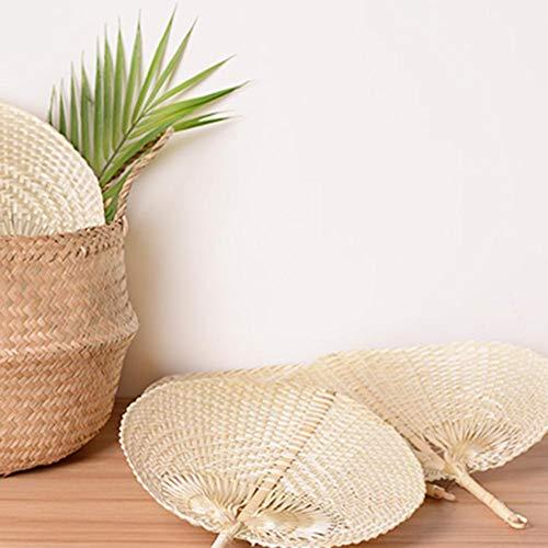 Fiaoen Fächer Handgemachter Bambus Fan DIY Herz Geformt Geflochtener Bambusfächer Sommer-Lüfter 1920s Kostüm Zubehör excellently
