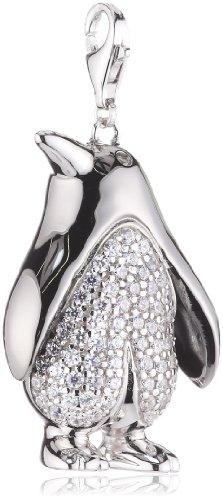 Esprit Damen-Charms penguin XL 925 Sterlingsilber 69 Zirkonia farblos ESCH90976A000