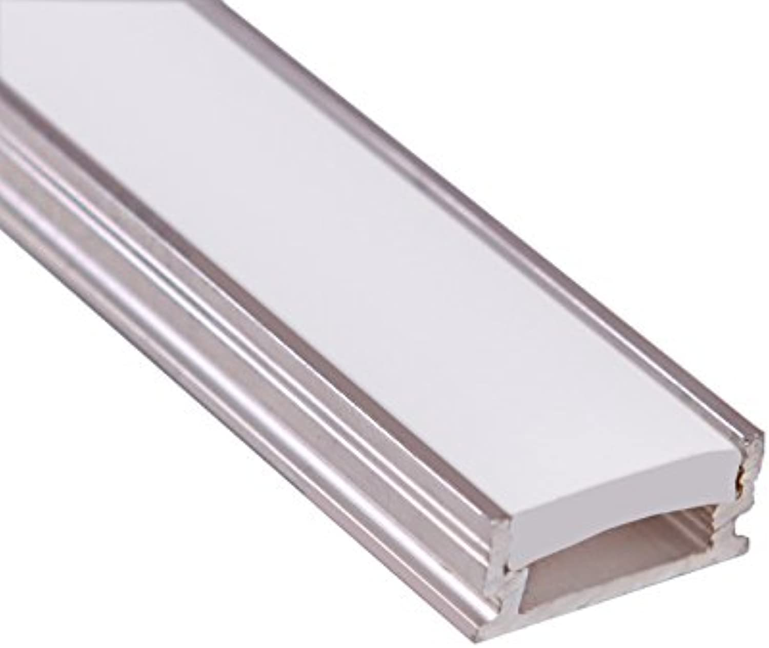 5 x LED aluminium profile (raw, non-anodized) with strong FROSTED diffuser for floor lighting applications, length  1000mm; LED Profil mit Abdeckung Opal (Diffusor) für LED Streifen Lnge 1m