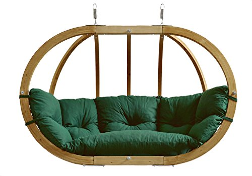 AMAZONAS Hängesessel in edlem Design Globo Royal Chair Green Weatherproof Mehrpersonen ca. 175 x 120 x 70 cm bis 200 kg in Grün