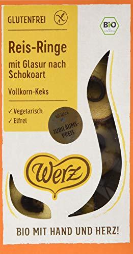 Werz Reis-Ringe mit Glasur nach Schokoart, Vk-Keks, glfr, 3er pack (3 x 125g)